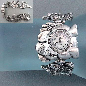 81716 WATCH - PUPPY DOG - CHARM - SILVER