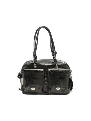 Alex Bag - Black Patent Croc