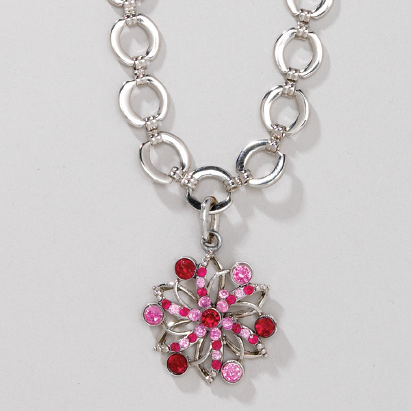 Aria Pink Fireworks Charm Necklace