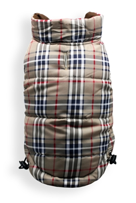 Brown/Plaid Reversible Puffer Vest 2