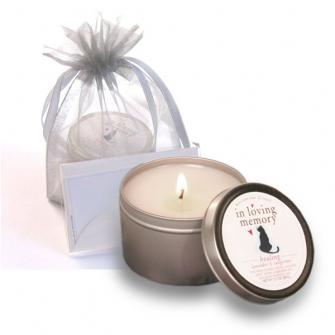 "CAT LOVERS ""IN LOVING MEMORY"" SYMPATHY CANDLE"