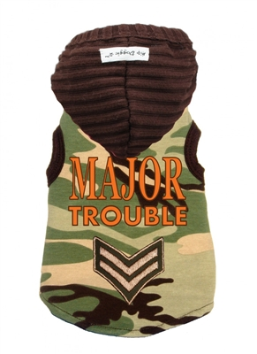 Green Camo Major Trouble Hoodie