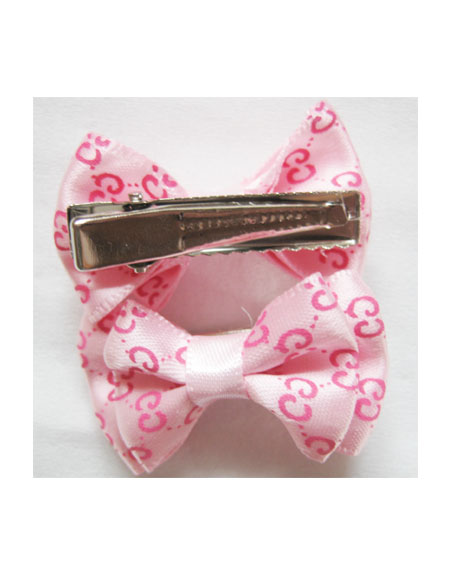 Gucci Dog Hair Bow in Pink