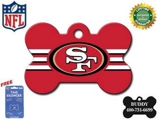 San Francisco 49ers Pet ID Tag - With Engraving