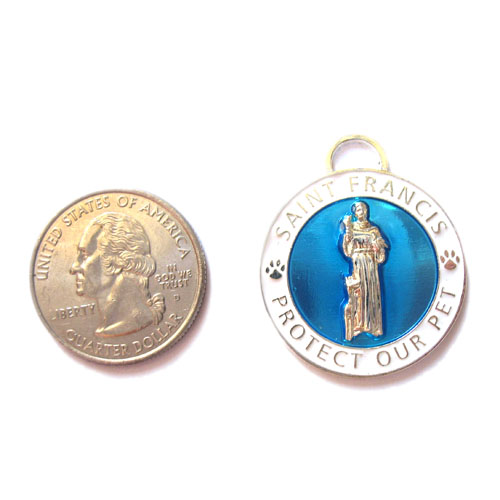 Large Blue St. Francis Medallion