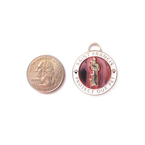 Large Pink St. Francis Medallion