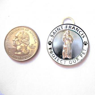 Large Silver St. Francis Medallion