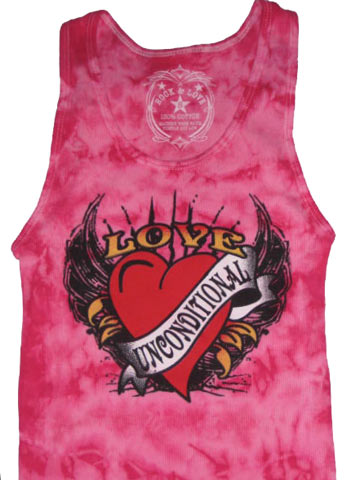 Love Unconditional Pink Adult Tank