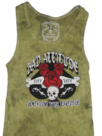 Bad Attitude Green Adult Tank