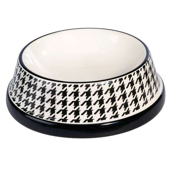 Pet Studio Houndstooth Dishes