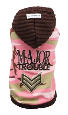 Pink Camo Major Trouble Hoodie