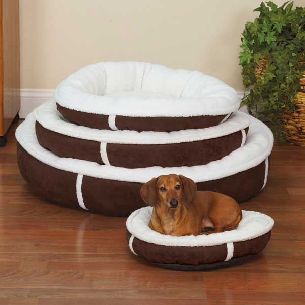 Slumber Pet Sherpa Donut Dog Beds -- Chocolate