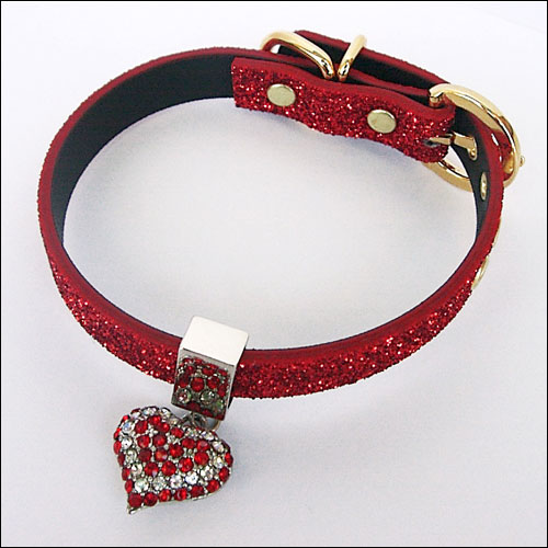 Twinkle Collar Red- Red Heart