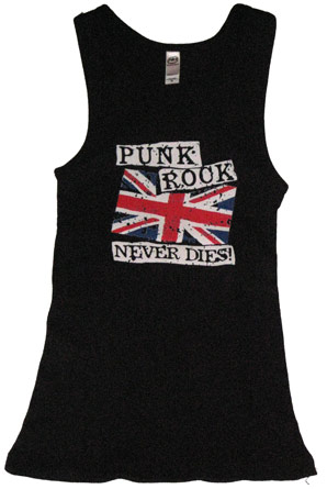 Punk Rock Never Dies Adult Tank