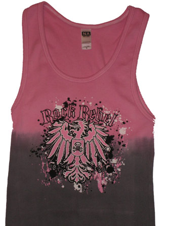 Rock Rebel Pink Adult Tank
