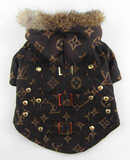 Brown Lv Dog Coat