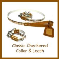 Classic Checkered Collar & Leash