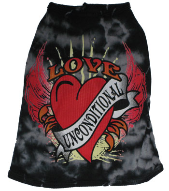 Love Unconditional Black Tank-Love Unconditional Black Tank