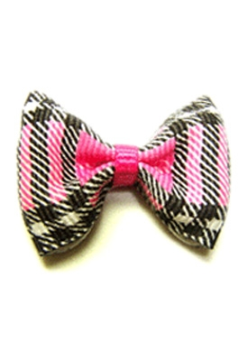 Pink Plaid Barrette