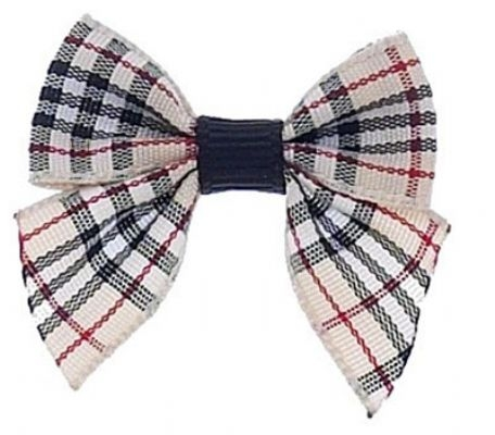 Barrette 30mm- Tan Plaid