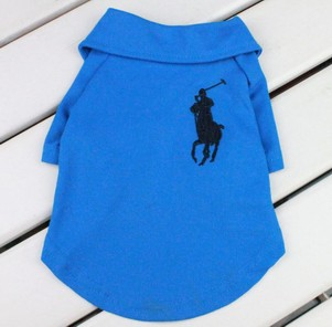 Polo Dog Tee Shirt in Blue