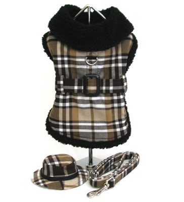 Brown Plaid Fleece Lined Coats