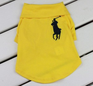 Quality Dog Polo Shirt in Yellow