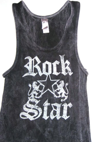 Rock Star Black Adult Tank