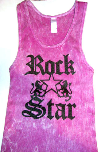 Rock Star Pink Adult Tank