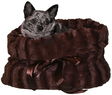 Lightweight Reversible Snuggle Bugs - Brown/Brown Wavy Velvet